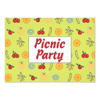 Convite de festas do piquenique convite 12.7 x 17.78cm