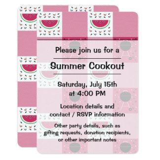 Convite de festas do piquenique do verão