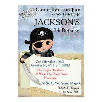 Convite de festas do pirata de Yo Ho Ho