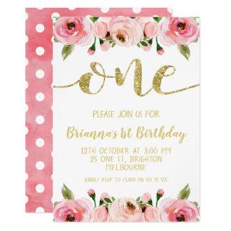 Convite de festas do primeiro aniversario da