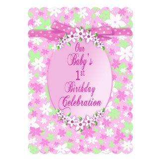 Convite de festas do primeiro aniversario do bebê
