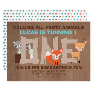Convite de festas do primeiro aniversario dos