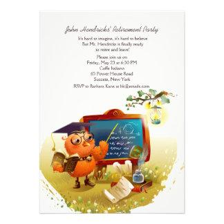 Convite de festas do professor Aposentadoria da co