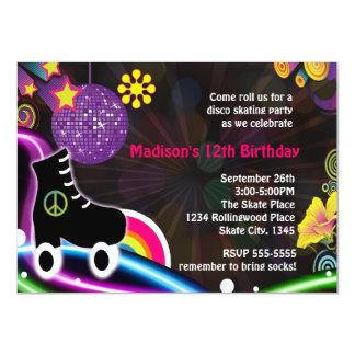 Convite de festas do skate da patinagem de rolo do
