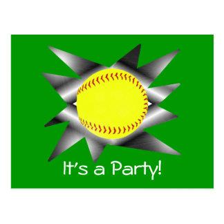 Convite de festas do softball de Fastpitch