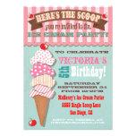 Convite de festas do sorvete