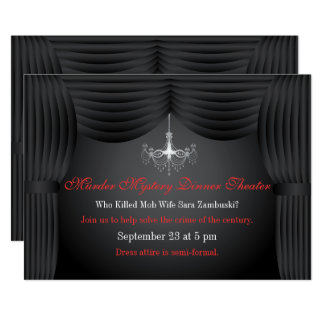Convite de festas do teatro do comensal do