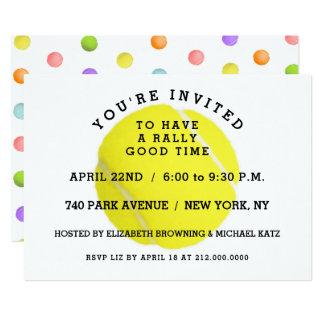 Convite de festas do tênis
