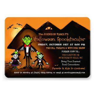 Convite de festas do traje do Dia das Bruxas da