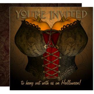 Convite de festas do traje do Dia das Bruxas do