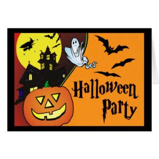 Convite de festas do traje do Dia das Bruxas para