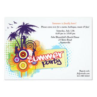 Convite de festas do verão