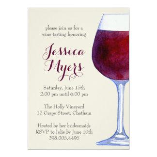Convite de festas do vinho tinto da aguarela