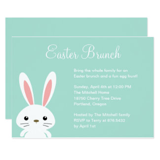 Convite de festas doce da páscoa do coelho