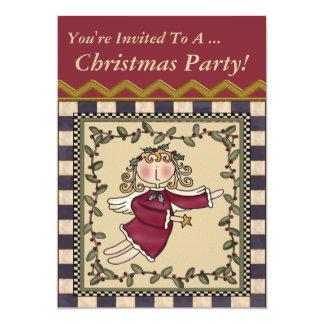 Convite de festas dos anjos do Natal