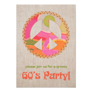 convite de festas dos anos 60 convite 12.7 x 17.78cm