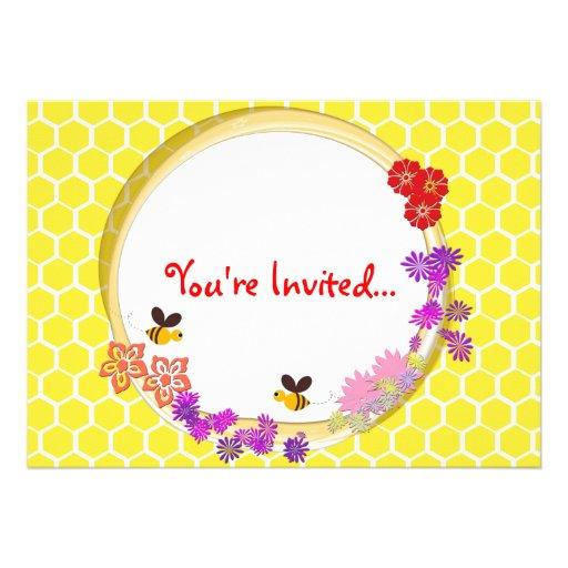 Convite de festas dos joelhos das abelhas