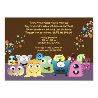 Convite de festas dos monstro do aniversário