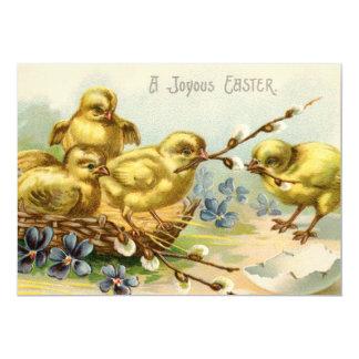Convite de festas dos pintinhos da páscoa do convite 12.7 x 17.78cm