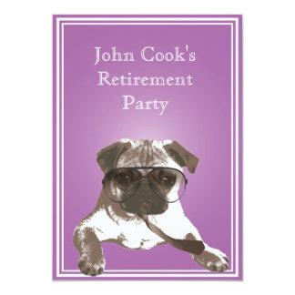 Convite de festas elegante da aposentadoria do Pug