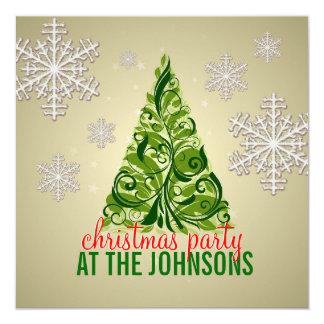 Convite de festas elegante da árvore de Natal