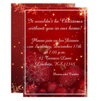 Convite de festas elegante do comensal de Natal