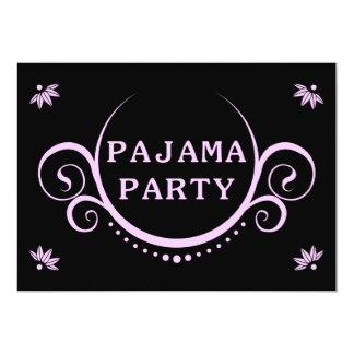 convite de festas elegante do pijama