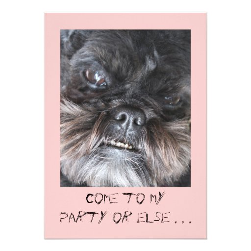 Convite de festas engraçado