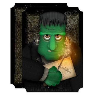 Convite de festas engraçado de Frankenstein o Dia
