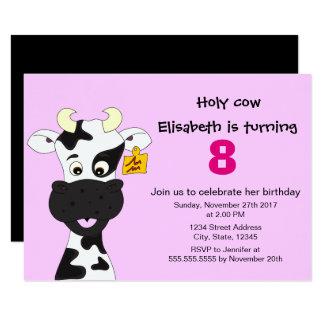 Convite de festas engraçado do aniversário de
