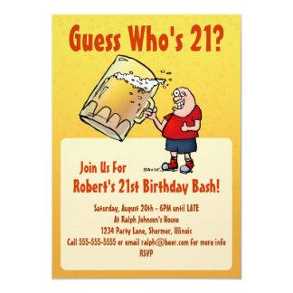 Convite de festas engraçado do aniversário de 21