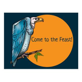 Convite de festas engraçado do comensal com abutre