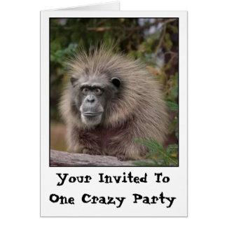 Convite de festas engraçado do macaco