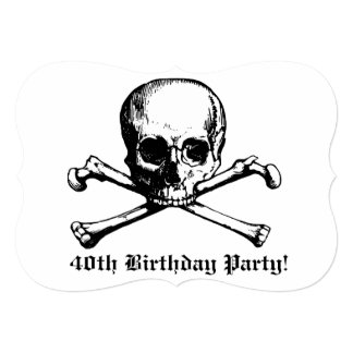 convite de festas escuro do aniversário de 40 anos