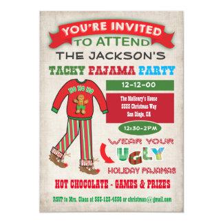 Convite de festas feio foleiro dos pijamas do