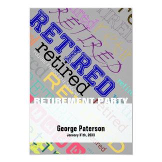 Convite de festas feito sob encomenda aposentado 1