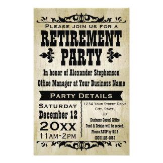 Convite de festas feito sob encomenda da aposentad panfleto coloridos