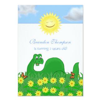 Convite de festas feliz do dinossauro