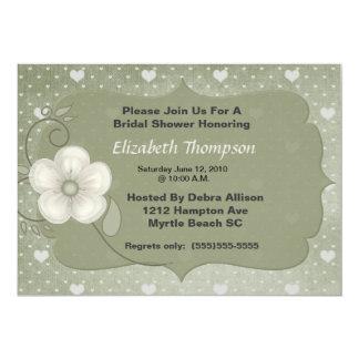 Convite de festas floral bege do chá de panela