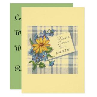 Convite de festas floral bonito