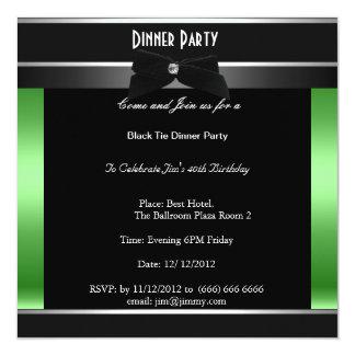 Convite de festas formal do comensal do