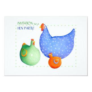 Convite de festas francês da galinha das galinhas
