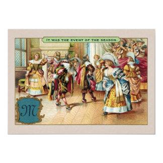 Convite de festas francês Monogrammed da bola