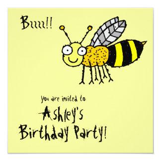 Convite de festas Funky da abelha do mel da