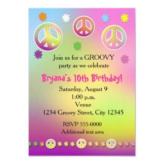 Convite de festas Groovy da tintura Pastel do laço