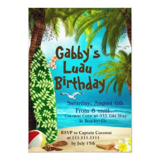 Convite de festas havaiano, convites de festas de
