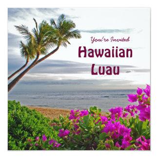 Convite de festas havaiano de Luau