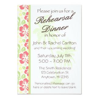 Convite de festas havaiano do jantar de ensaio de