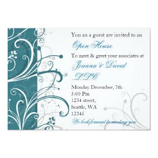 convite de festas incorporado do aqua elegante