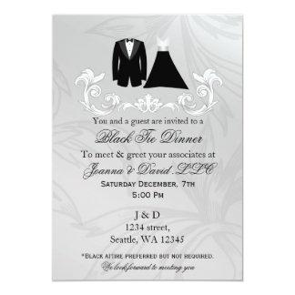 Convite de festas incorporado do evento do traje
